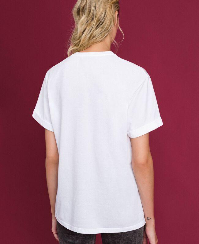 T-shirt imprimé Blanc Femme 192TT2561-03