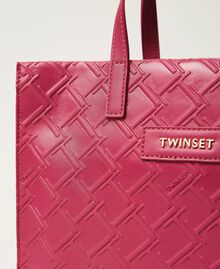 "Mittelgroße Twinset Bag im Shopperformat mit Logo ""Red Plum""-Violett Frau 202TB7161-03"