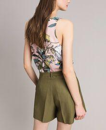 """Linen shorts """"Olive"""" Green Woman 191TT2309-03"""