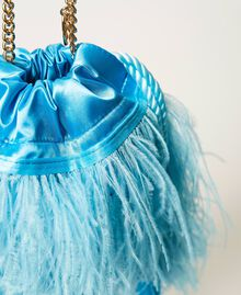 "Атласная сумка с перьями Желтый ""Led"" женщина 211TD8220-03"