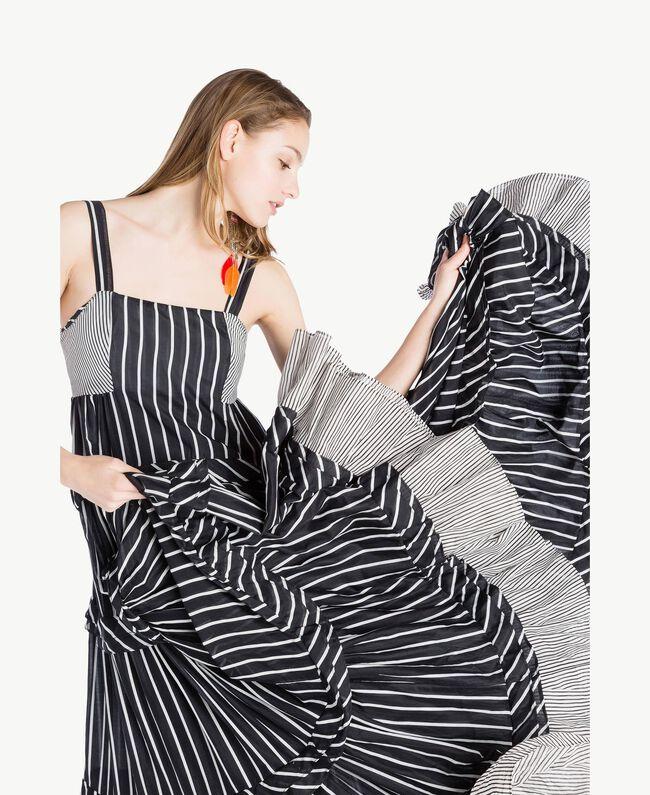 Long printed dress Patch Stripes Print Woman TS82ZT-04