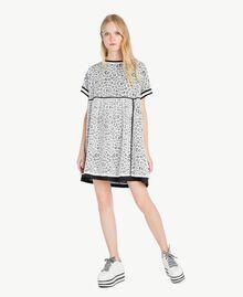 Robe dentelle Blanc Optique / Noir Femme YS83DA-01