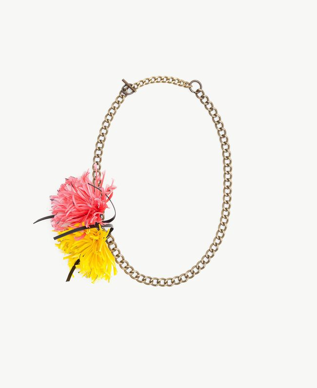 Flower necklace Two-tone Provocateur Pink / Ochre Yellow Woman OS8T46-01
