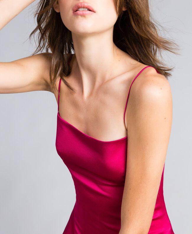 "Langes Kleid ""Anemonen""-Fuchsia Frau QS8TGF-04"