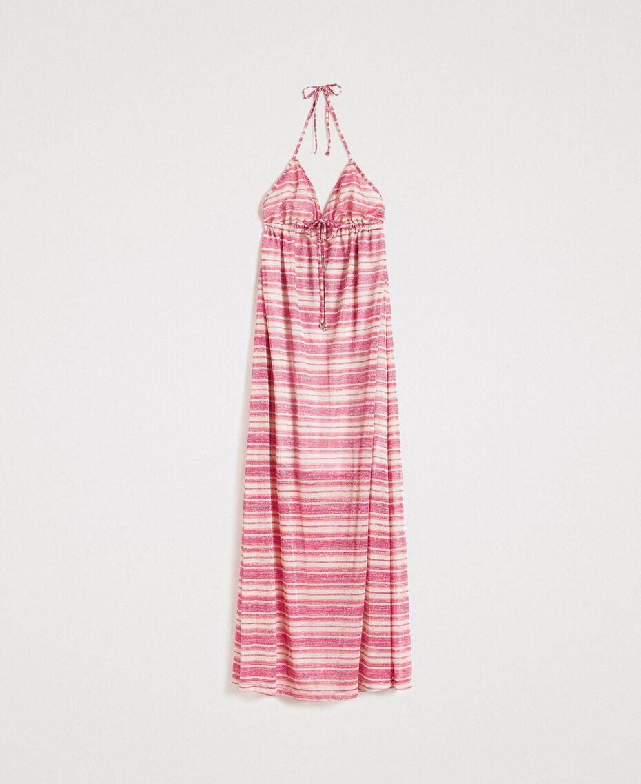 """Robe longue avec rayures lurex Rayures Multicolores Rose / Rose """"Crème De Tangerine"""" Femme 191LB2AFF-0S"""