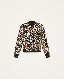 Jersey de cuello alto animal print Estampado Animal print Mujer 202LL3E00-0S