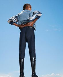Tapered fit jeans Dark Denim Woman 202MP2071-02