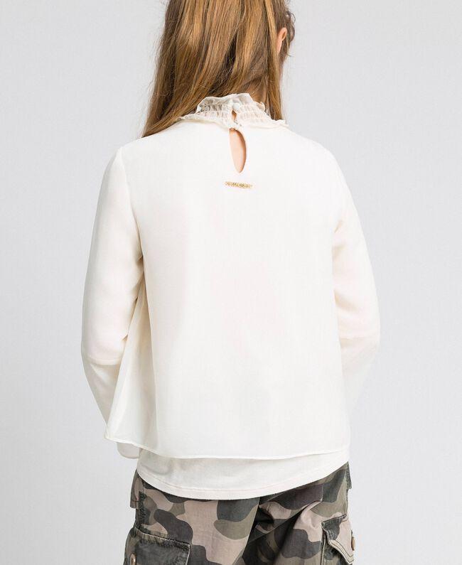 Bluse aus Georgette Chantily Kind 192GJ2351-04