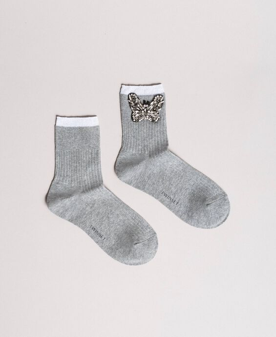 Mixed cotton socks with jewelry butterfly