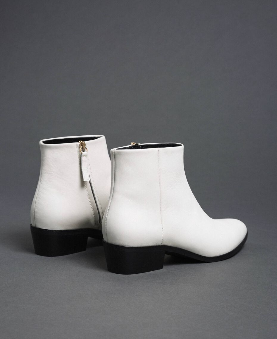 Leather ankle boots Off White Woman 192TCP12N-03