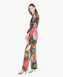 Floral pattern kaftan Summer Garden Print Woman TS824Q-02