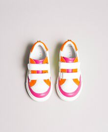 "Sneakers color block Rosa ""Crystal Pink"" Bambina 191GCB030-04"