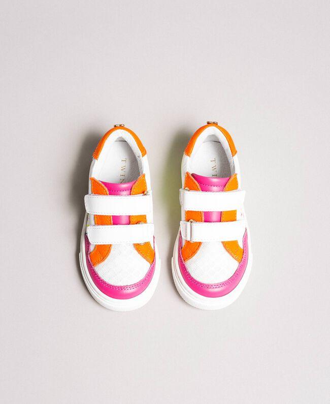"""Baskets en blocs de couleurs """"Rose Cristal"""" Enfant 191GCB030-04"""