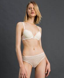 Culotte en dentelle et tulle Ivoire Femme 192LL6C66-01