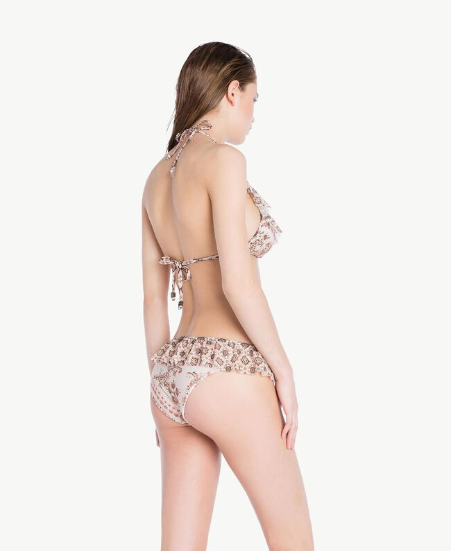 Bikinihose mit Prints Patchprint Vegas Pink Frau BS8A99-04