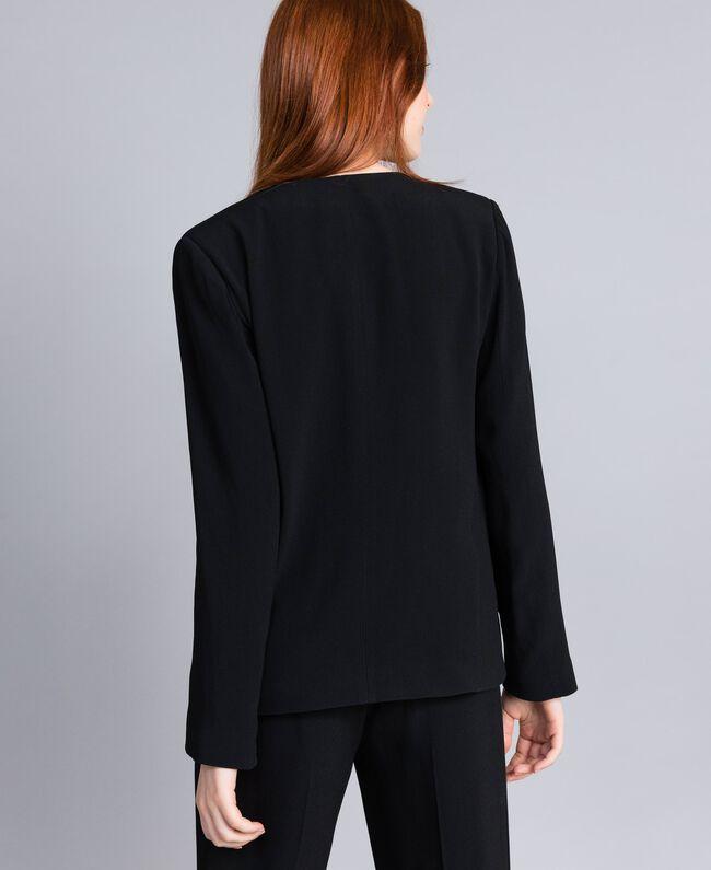 Envers satin tuxedo jacket Black Woman QA8TGN-03