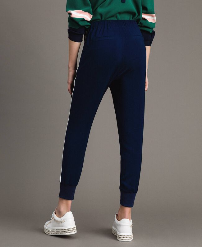 Georgette-Jogginghose Midnight-Blau Frau 191TP2326-03