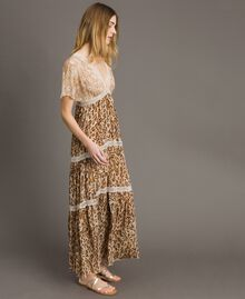 "Animal print long dress ""Petra Sandstone"" Brown Animal Print Woman 191LM2UGG-02"