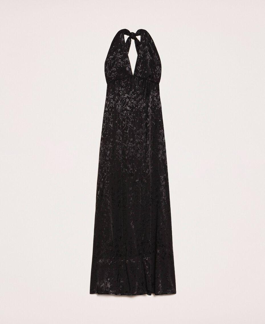 """Длинное платье с жаккардовым цветочным рисунком Оранжевый """"Витаминный"""" женщина 201LB2HAA-0S"""