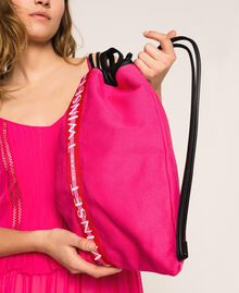 """Canvas sackpack with logo """"Jazz"""" Pink Woman 201TO8101-0S"""