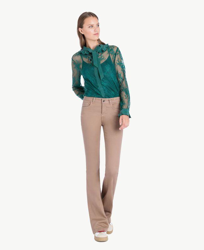 """Bell bottom trousers """"Safari"""" Beige Female JA72T2-01"""