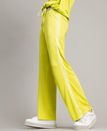 """Trousers with side bands """"Lemon Juice"""" Yellow Woman 191LL23KK-03"""