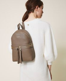 New Cécile backpack with all around zip Turtledove Woman 202TB7184-0S