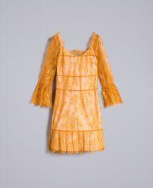 Short Valencienne lace dress Brandy Woman PA82FY-0S