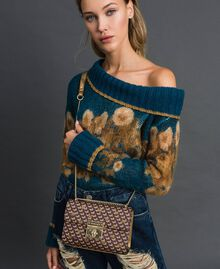 Butterfly print small shoulder bag Dark Gold Butterfly Print Woman 192TO801M-0S