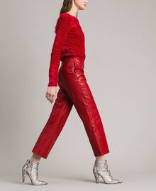 "Pantaloni in similpelle Rosso ""Ruby"" Donna 191TP2550-01"