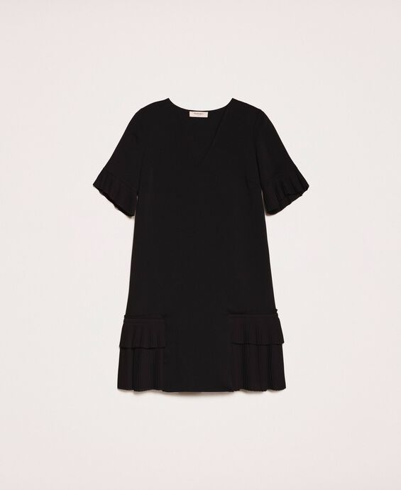 Georgette dress with pleats