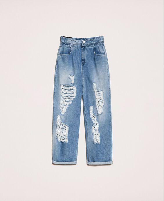 Loose-Fit-Jeans mit Rissen