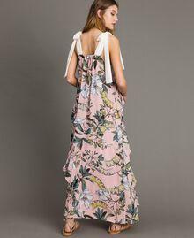 """Robe longue en georgette à imprimé floral Imprimé Exotique """"Rose Doux"""" Femme 191ST2223-03"""