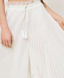 Pantaloni in mussola plissé Avorio Donna 211LM2LBB-05
