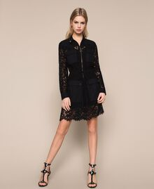 Macramé lace dress Black Woman 201TP2196-01