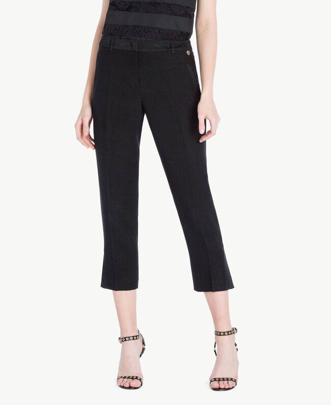 Pantalon envers satin Noir Femme TS823G-01
