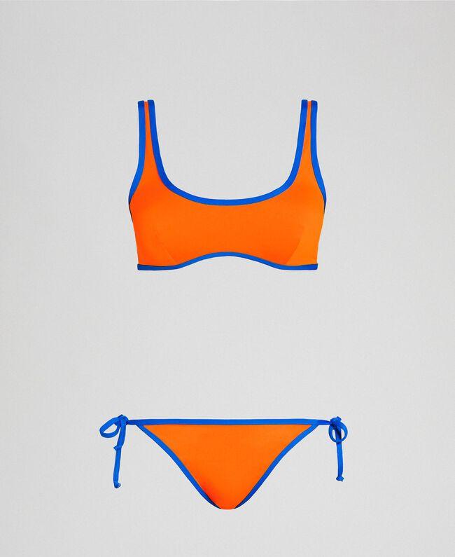 Reversible bikini Fluorescent Orange / Fluorescent Blue Woman 191TQM023-01