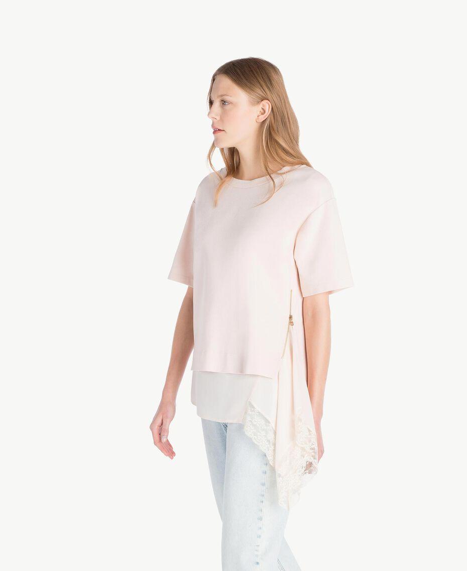 Lace blouse Pale Ecru Woman PS828Q-02