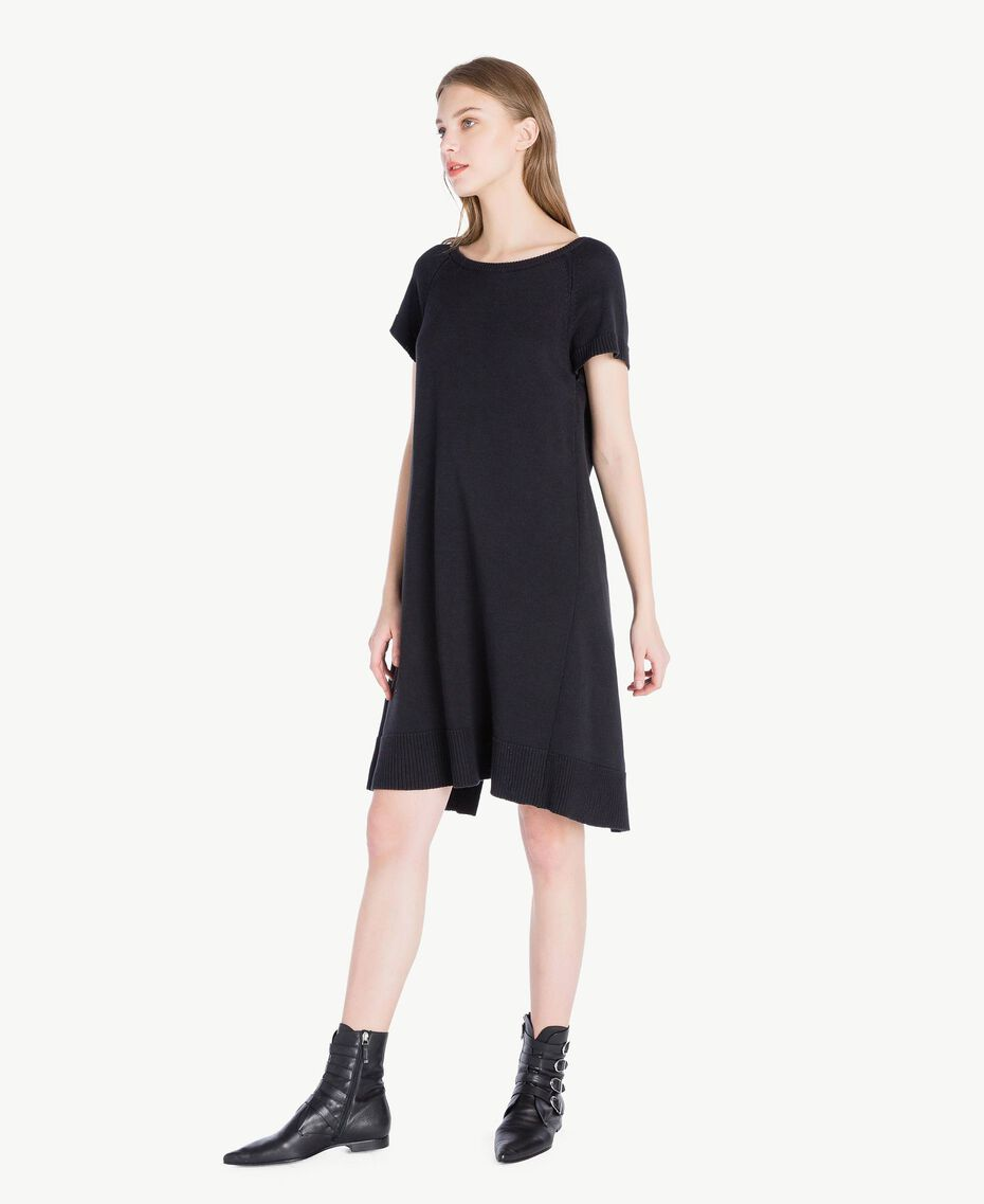 Lace dress Two-tone Black / Light Ecru Woman PS8371-02