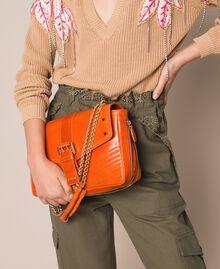 Medium Rebel leather shoulder bag Titanium Gray Woman 999TA7233-0S