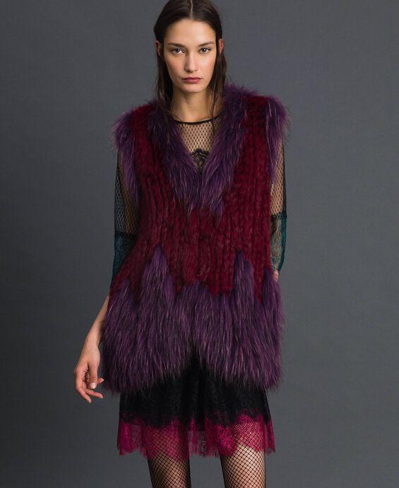 Tricot fur waistcoat