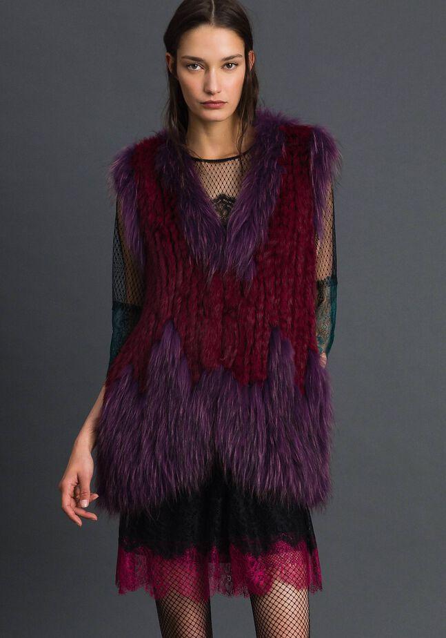 Gilet en fourrure tricot