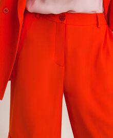 Bermuda en crêpe georgette Orange «Ace» Femme 201LL2NDD-04