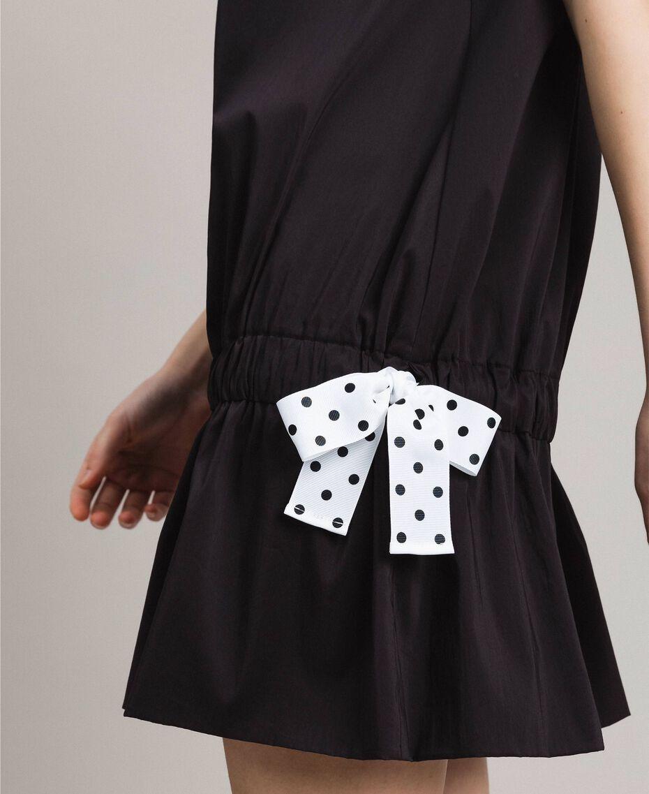 Robe en popeline avec cordon Noir Femme 191MP2191-02