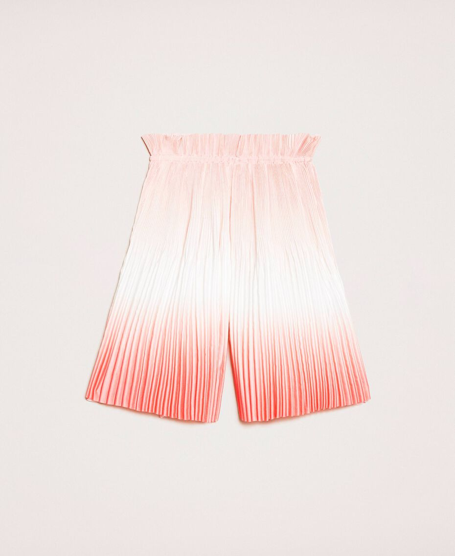 """Fadeout pleated satin trousers """"Calypso Coral"""" Red Multicolour Print Child 201GB2201-01"""