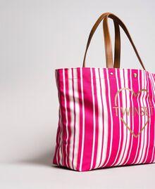 """Strandtasche mit Canvasstreifen Streifen Multicolour Pink / """"Tangerine Cream"""" Pink Frau 191LB4ALL-02"""