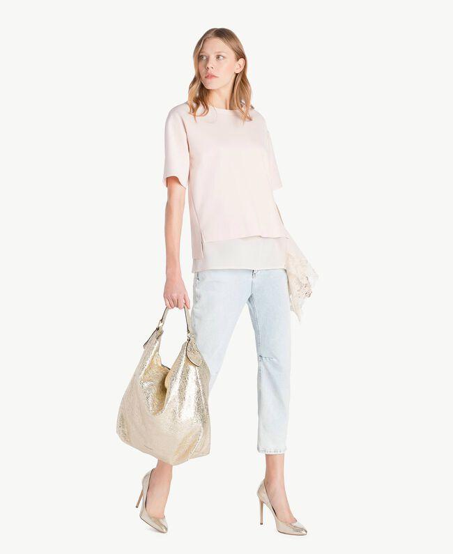 Lace blouse Pale Ecru Woman PS828Q-06