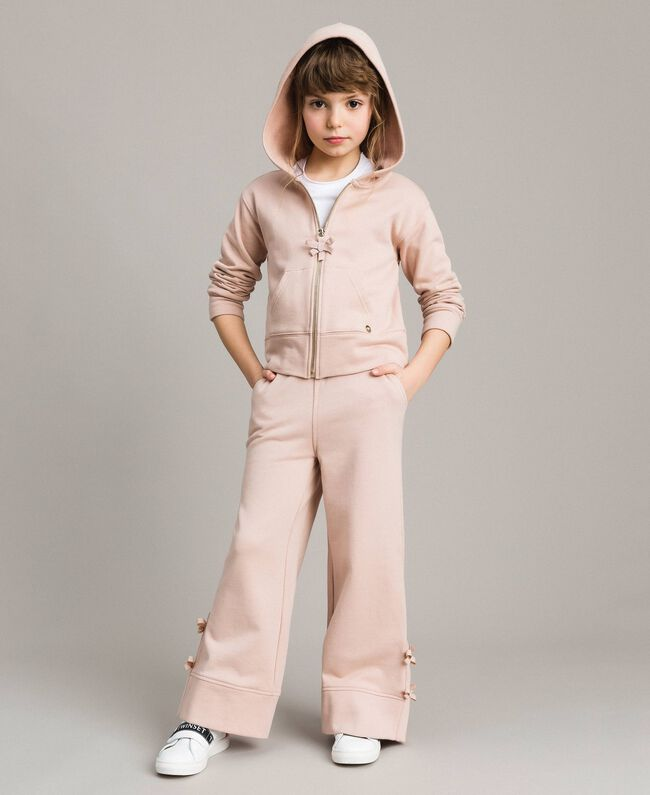 Palazzo trousers with bows Blossom Pink Child 191GJ2033-0T