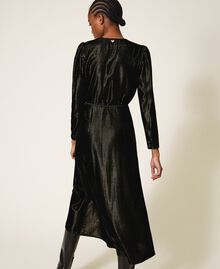 Long velvet dress Black Woman 202TT2160-03