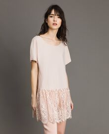 Maxi T-shirt with lace White Woman 191TP260G-02